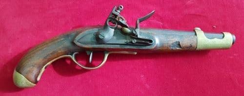A rare Napoleonic era Dutch Military Officer's Flintlock Pistol dated 1815. Ref 1144.