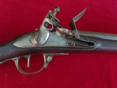 A rareNapoleonic Era French Military Flintlock musket, complete with its iron ramrod. Ref 3327