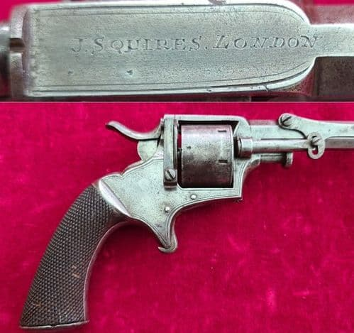 A rare Tranter's style six shot .30 cal rim-fire Revolver by J Squires London. Ref 3360