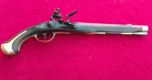 A scarce Danish Military Model 1772 Heavy Dragoon Flintlock Holster Pistol. Ref 3189
