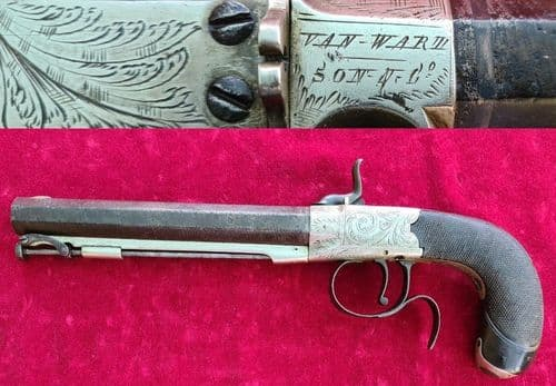 A scarce English .54 Percussion pistol made by VAN WART SON & CO. Circa 1835.  Ref 3199