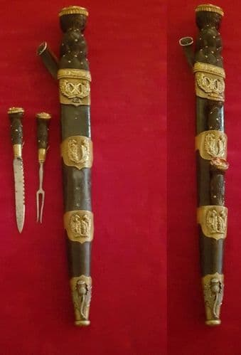 A scarce Scottish Dirk for sale. 42nd Highlanders (known as BLACK WATCH). Good condition. Ref 2672