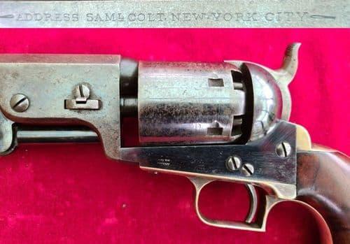 A superb early Colt model 1851 Navy .36 calibre Percussion revolver. Circa 1851. Ref 3117