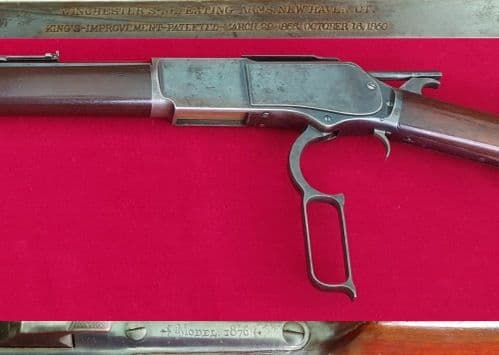 A superb Winchester 1876 lever rifle obsolete .40-60 cal. Made in 1887. Exc. condition. Ref 2630.