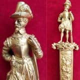 A Very fine and large size Romantic dagger with a figure of a 17th century Musketeer. Ref 2982