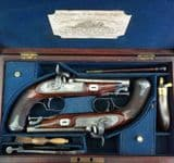 A very fine cased pair of single barrelled percussion pistols made by the world famous London Gunmakers Charles & Henry EGG. Ref 7795.