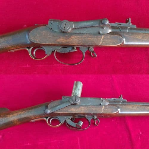 A VERY RARE 18mm NORWEGIAN PERCUSSION UNDER HAMMER MILITARY SERVICE RIFLE. Ref 3154.