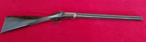 A very rare American 4 barrel swivel-breech revolving rifle by WILLIAM BILLINGHURST. Ref 2419