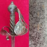 A very rare English Mortuary style basket hilted sword circa 1650. Good condition. Ref 1942.