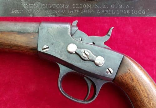 A very rare REMINGTON  ROLLING BLOCK .50 cal Naval PISTOL in original holster. Ref 2677.