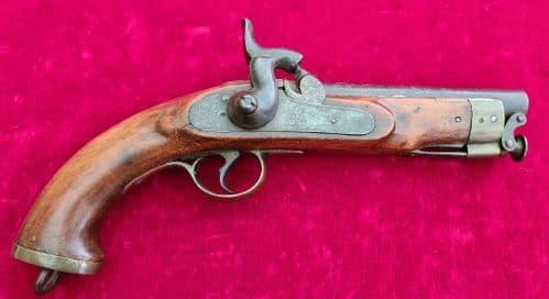A Victorian period British military .56 cal percussion EIC pistol. Circa 1840-1860. Ref 3289