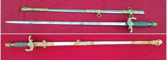 American Masonic or Lodge Sword. Original owner's name HERMANN MATTKE. Good condition. Ref 9699.