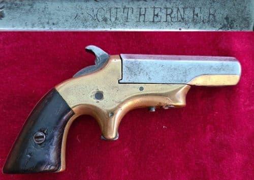 "An American ""SOUTHERNER"" single barrelled .41 Rimfire Derringer. Circa 1866-1873. Ref 3364"