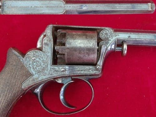 X X X  SOLD X X X A double action percussion revolver by Deane Adams & Deane. C 1851-1856. Ref 3188
