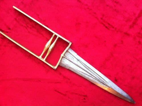 X X X  SOLD X X X A Gold inlaid Indian Katar 19th century. Ref 6225