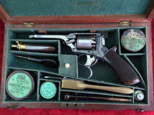 X X  X SOLD X X X A rare Cased Tranters patent Percussion Revolver. Ref 8085.
