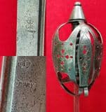 X X X  SOLD X X X Basket hilt Highland Regiments C. 1757-1784 Ref 1782.