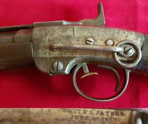 X X X  SOLD X X X  breech-loading Civil War percussion carbine. C 1862. Ref 2746.