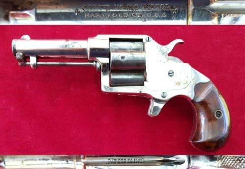 X X X  SOLD X X X  Clover-leaf  four shot revolver. Circa 1871-76. Ref 1864.