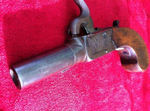 X X  X SOLD X X X Pocket pistol circa 1840 by Jno. Jones & Son London. Good condition. Ref 6526.
