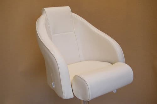 PF4546 with Head Rest (White) Imit- Leather