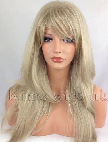 Kimswigs.co.uk - Ladies Blonde Highlighted Long Layered Wig - Abbie