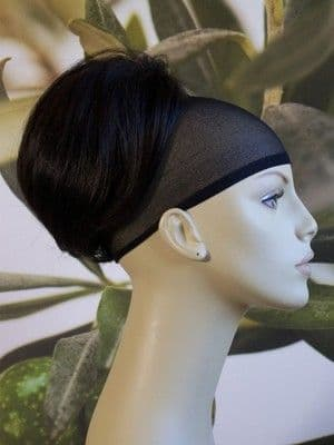 "BLACK/DARK BROWN "" BEEHIVE "" BUN HAIR PIECE  #2"