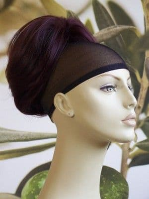 "DARK BURGUNDY RED / PLUM "" BEEHIVE "" BUN  #99J"