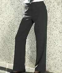 Girls Senior Black Slim Fit Trouser