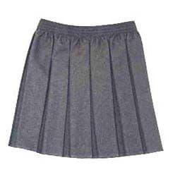 Grey Elasticated Box Pleat Skirt