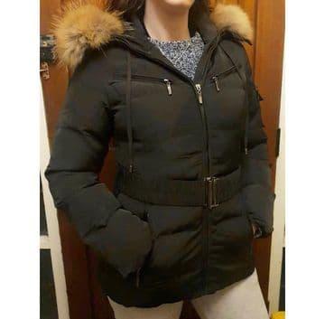 Women Winter Coat Brown Fur