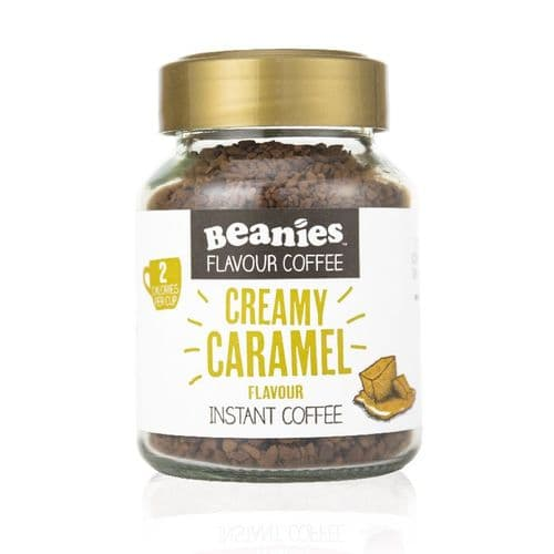 Beanies Creamy Caramel Flavour Instant Coffee 50g