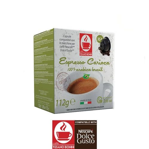 Caffe Bonini Coffee Pods Compatible with Dolce Gusto - Carioca