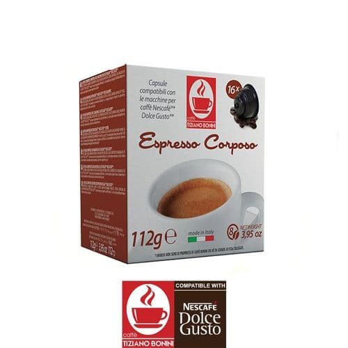 Caffe Bonini Coffee Pods Compatible with Dolce Gusto - Corposo