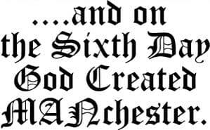 WOMENS 90`s MADCHESTER`GOD CREATED MANchester` T-SHIRT