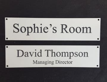 Acrylic Door Sign - Perfect for Office or Room - Engrave with Your Text