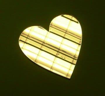 Acrylic Mirror Heart Choice of 5 Sizes