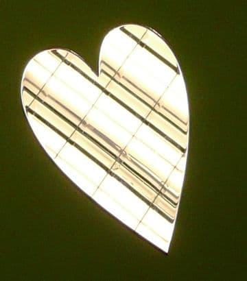 Acrylic Mirror Long Heart Choice of 5 Sizes