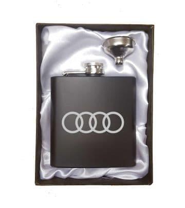 Audi Inspired Hip Flask Set