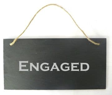 Engaged/Vacant Double Sided Slate Sign
