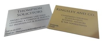Engrave with Your Text - Business Name Plaque - Customized Text and Choice of Colour
