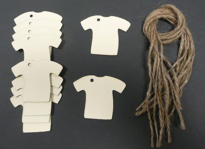 Footy Shirt Gift Tags / Price Tags 65mm Pack of 10