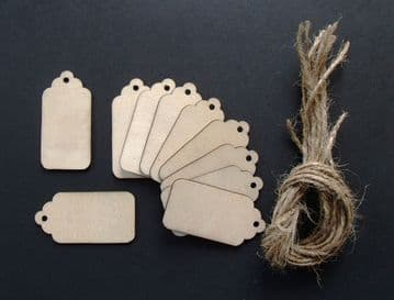 Gift Tags / Price Tags 60mm Pack of 10
