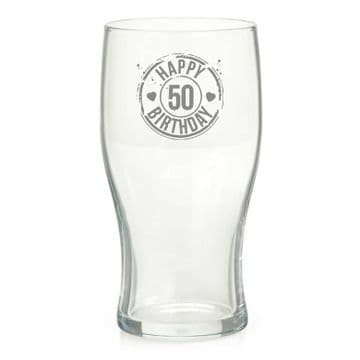 Happy 50th Birthday Pint Glass