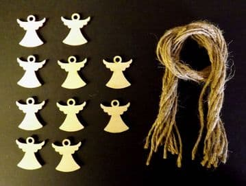 Mini Xmas Angel Gift Tags Xmas Decoration 30mm Pack of 10