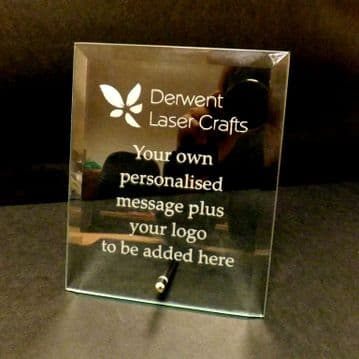 """Personalised Engraved Glass Plaque 7"""" x 5"""""""