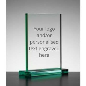 Personalised Engraved Jade Rectangle Trophy/Plaque - 20cm x 15cm