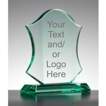Personalised Engraved Jade Shield Trophy/Plaque - 20cm