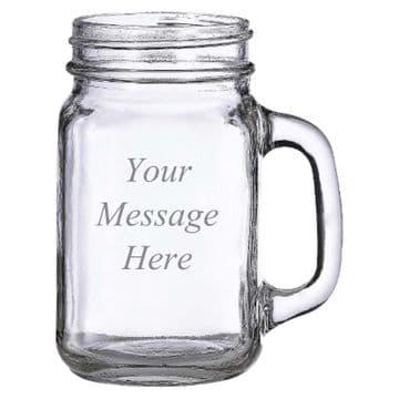 Personalised Engraved Mason/Moonshine Jar Glass