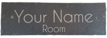 Personalised Engraved Slate Room Sign